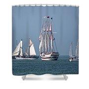 Sailing Lake Erie Shower Curtain