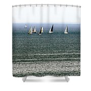 Sailing On Lake Erie Shower Curtain