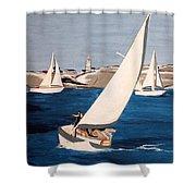 Sailing On San Francisco Bay Shower Curtain