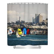 Sailing On The Bay Shower Curtain