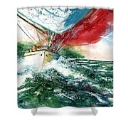 Sailing On The Breeze Shower Curtain