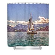 Sailing On The Lake Shower Curtain