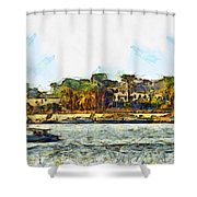 Sailing On The Nile Shower Curtain