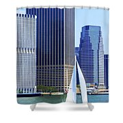 Sailing Past The Skyscrapers Shower Curtain