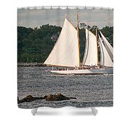 Sailing Portland Shower Curtain