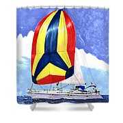 Sailing Primary Colores Spinnaker Shower Curtain