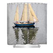 Sailing Puget Sound Shower Curtain