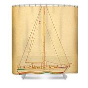 Sailing Reggae Shower Curtain