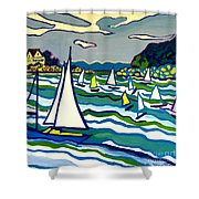 Sailing School Manchester By-the-sea Shower Curtain