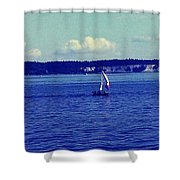 Sailing Seattle  Shower Curtain