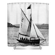 Sailing Ship Cutter Shower Curtain