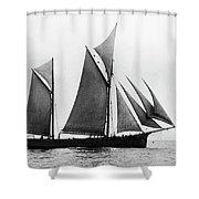 Sailing Ship Ketch, 1876 Shower Curtain