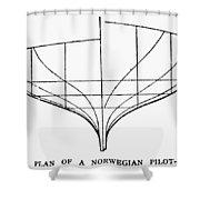 Sailing Ships: Pilot Boat Shower Curtain