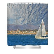 Sailing The Blues Away  Shower Curtain