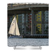 Sailing The Intracoastal Shower Curtain