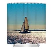 Sailing The Ocean Blue Shower Curtain
