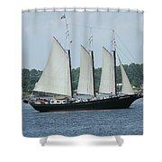 Sailing Through History Shower Curtain