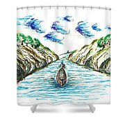 Sailing Through Shower Curtain