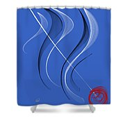 Sailing To The Rhythm Of Music Shower Curtain
