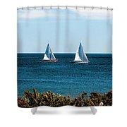 Sailing Watch Hill Ri Shower Curtain
