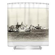 Sailing Up The Mersey Shower Curtain