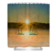 Sailing When The Sun Comes Up Shower Curtain