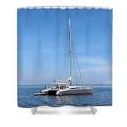 Sailing Yacht Shower Curtain