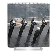 Sailors Fire A 21-gun Salute Shower Curtain