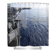 Sailors Fire A 25mm Machine Gun Aboard Shower Curtain