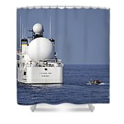 Sailors In A Rigid-hull Inflatable Shower Curtain