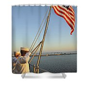 Sailors Salute The National Ensign Shower Curtain