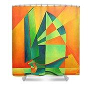 Sails At Sunrise Shower Curtain