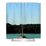 Sails Down  Shower Curtain