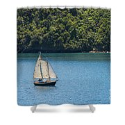 Sails In The Wind Shower Curtain
