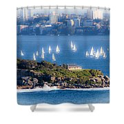 Sails Out To Play Shower Curtain