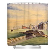 Saint Andrews Golf Course Scotland - 18th Hole Shower Curtain