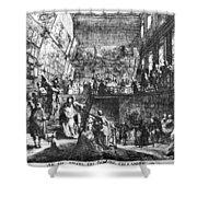 Saint-aubin Louvre, 1753 Shower Curtain