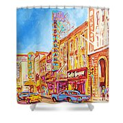 Saint Catherine Street Montreal Shower Curtain