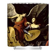 Saint Cecilia And The Angel Shower Curtain