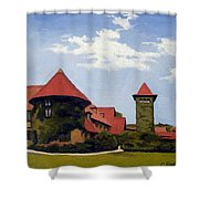 Saint Clements Castle Portland Connecticut Shower Curtain