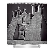 Saint Francis In Black And White Shower Curtain
