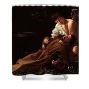 Saint Francis Of Assisi In Ecstasy 2 Shower Curtain by Caravaggio