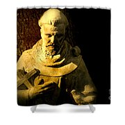 Saint Francis Shower Curtain by Susanne Van Hulst