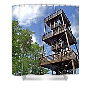 Saint Francois Observation Platform On Ile D'orleans-qc Shower Curtain