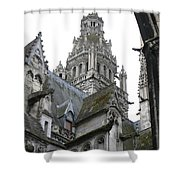 Saint Gatien's Cathedral Steeple Shower Curtain