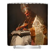 Saint Gregory The Pope Shower Curtain