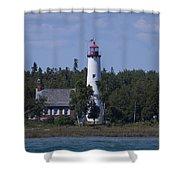 Saint Helena Lighthouse 2 Shower Curtain