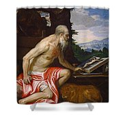 Saint Jerome In The Wilderness Shower Curtain