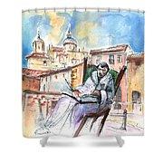 Saint John Of The Cross In Salamanca Shower Curtain