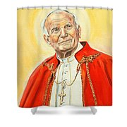 Saint John Paul II Shower Curtain